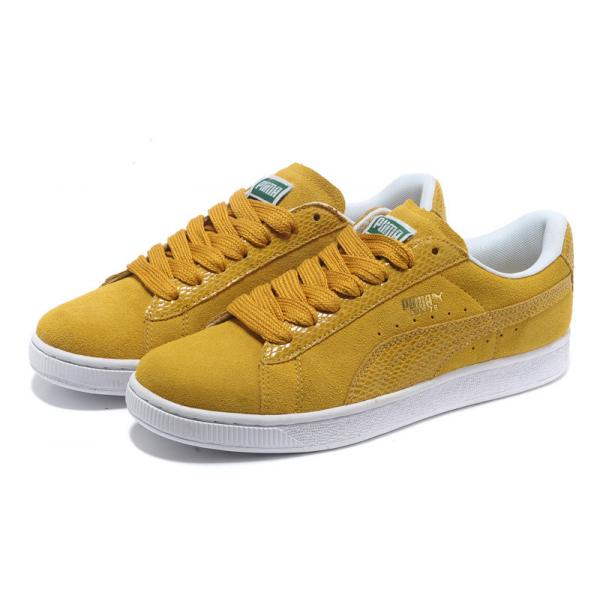 puma suede moutarde